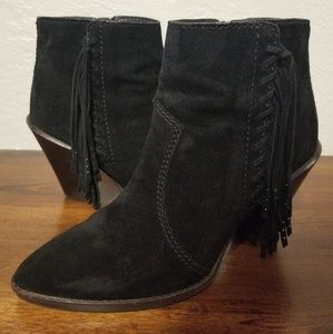 COACH Booties with fringe